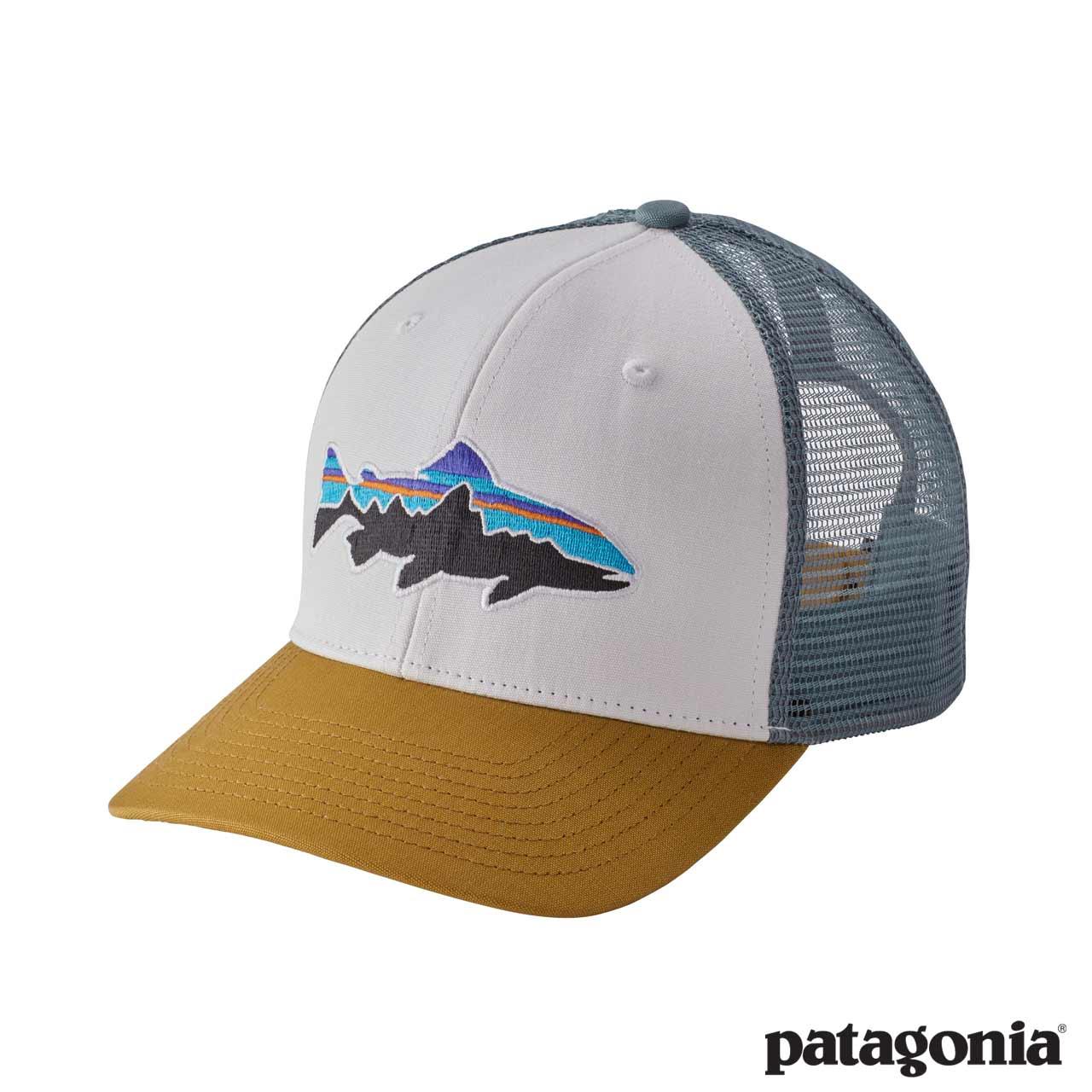 patagonia cappello  Cappello logo trota Fitz Roy Trout Trucker - Patagonia - Like a River
