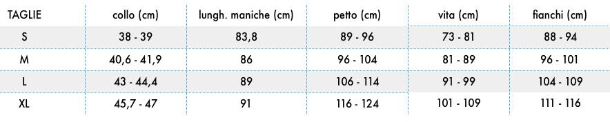 columbia tabella taglie