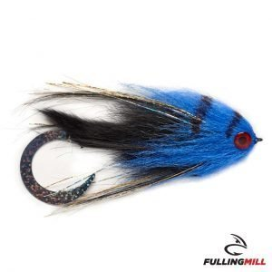 Mosca Da Luccio Wiggle Tail Black & Blue 6/0 – Fulling Mill