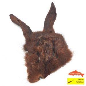 Hare Mask Dark Brown - Like a river