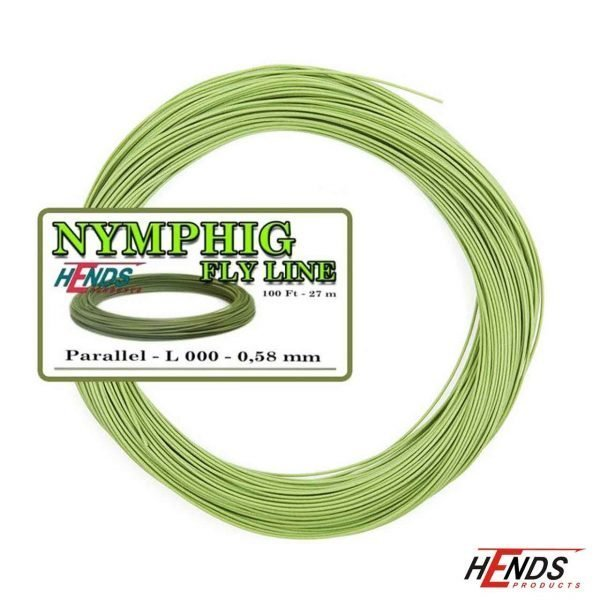 hends nymph fly line