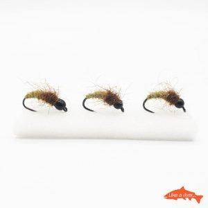 Kit 3 X Nymphs #10 BL 4,0mm Tung Black – Like A River